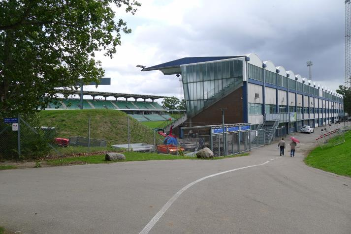 gladsaxe stadion, rear of the west stand