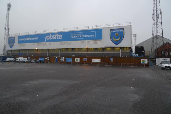 fratton end, outside